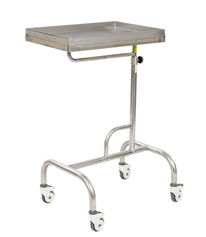 Hospital stainless steel instrument surgical mayo table trolley