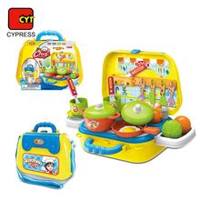 little chef suitcase funny plastic toddler kitchen set for role play