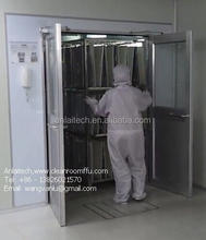 The Double swing door cargo air shower clean room for trolley