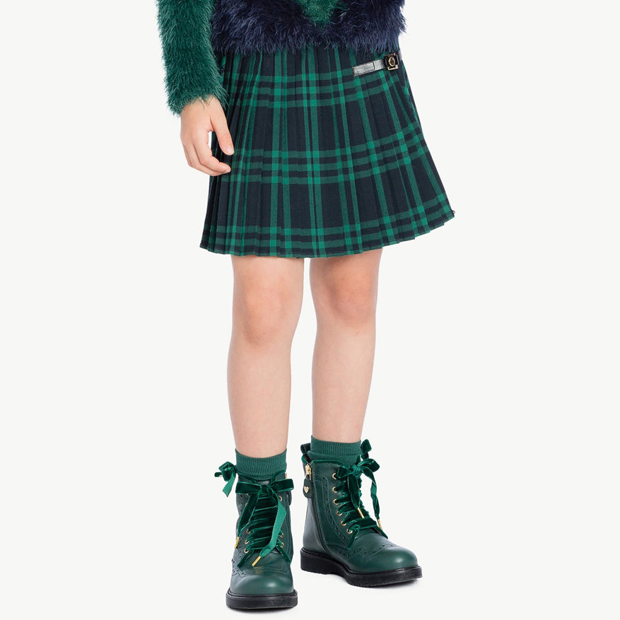 Customized Kid school Girl ruffle mini skirt manufacturer