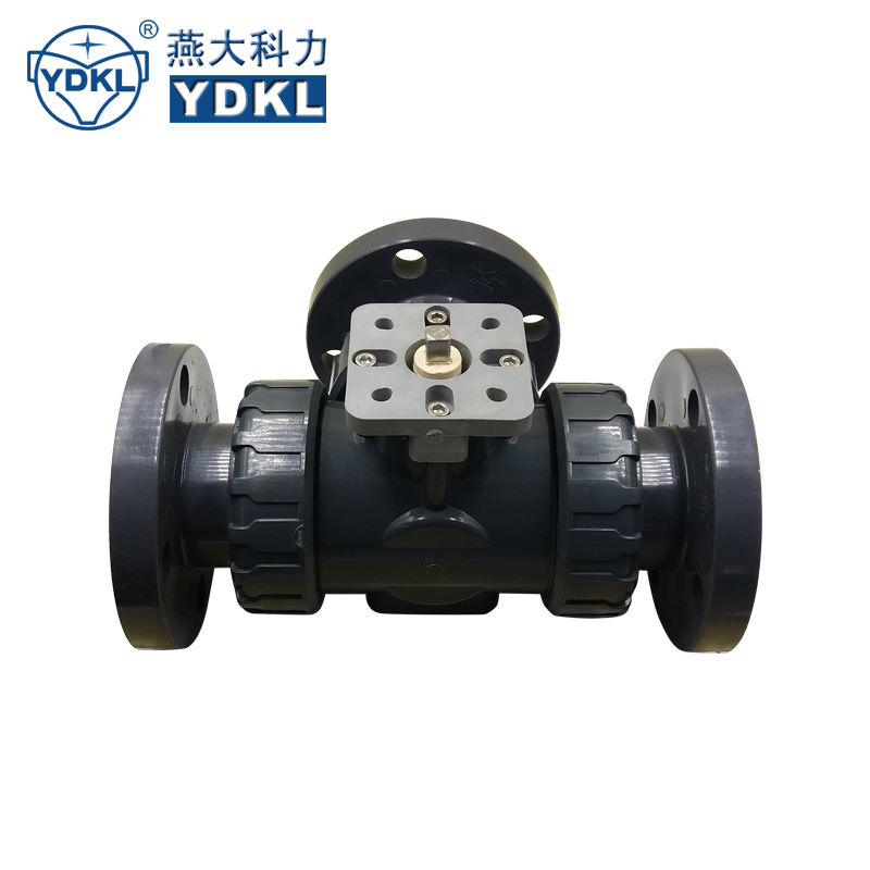 3 way pvc electric 40mm solvent weld pool diverter ball valve