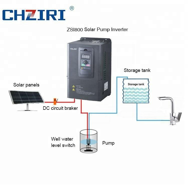 Low noise 0.4kW-11kW Solar Pumping Inverter, solar frequency inverter