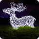 Large christmas decorations outdoor led lighted reindeer