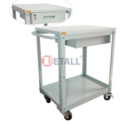ESD laboratory trolley with trolley hand