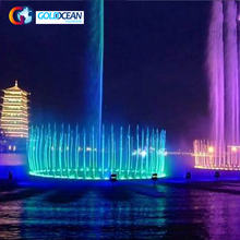 Outdoor Music Dancing Water Fountain Show Large Lakes With Led Lights