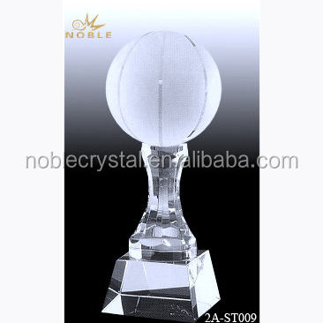 Noble Cup Sports Souvenir Crystal Basketball Trophy