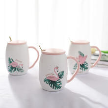 Zogift Hot selling Fashion Flamingo ceramic coffee tea cup European cup of water mugs