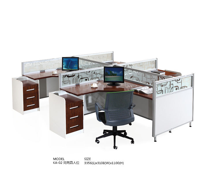 2019#High quality standard sizes of workstation furniture KA-01