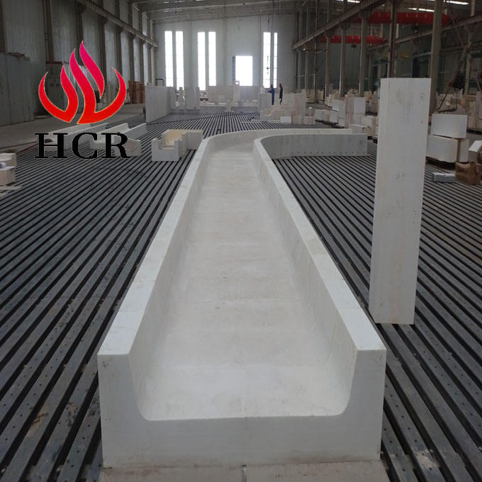 white corundum block fused cast azs refractory block Sodium silicate furnace for water glass