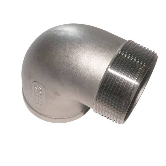 stainless steel reducing elbow threaded SS 304 316 90 degree pipe fittings
