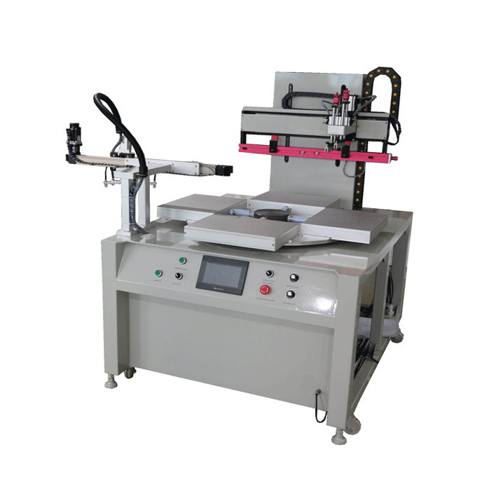 Automatic rotating table screen printer for gift case