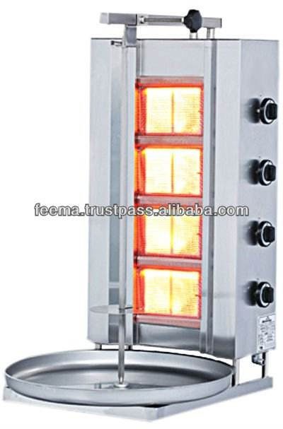 SHAWARMA MACHINE DONER KEBAB GRILL WITH 4 RADIANS GAS (STABLE)