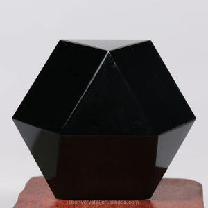 Grosir Hitam Obsidian Dodecahedron Fluor Kristal Dodecahedron