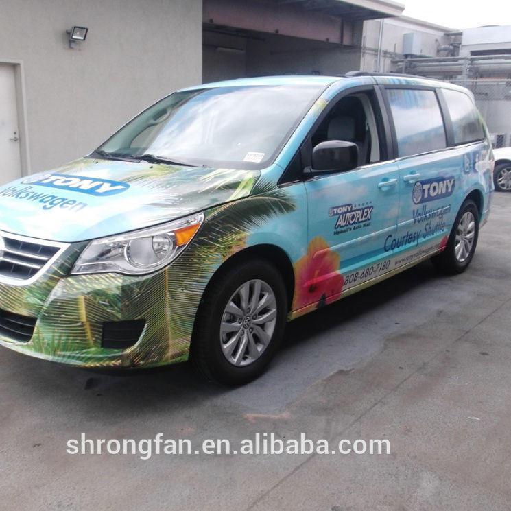 Waterproof UV protected 3M Clear Vinyl Vehicle Wrap for advertising