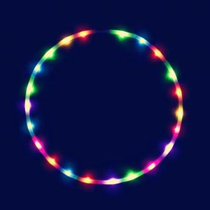 Electric led plastic kids hula hoop