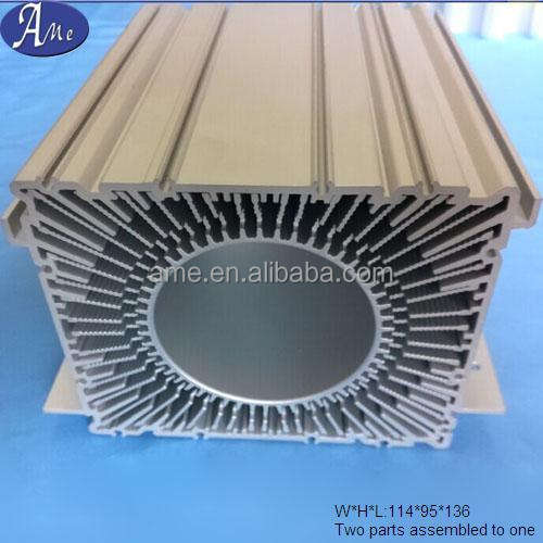 Led heatsink aluminium ekstrusi air didinginkan