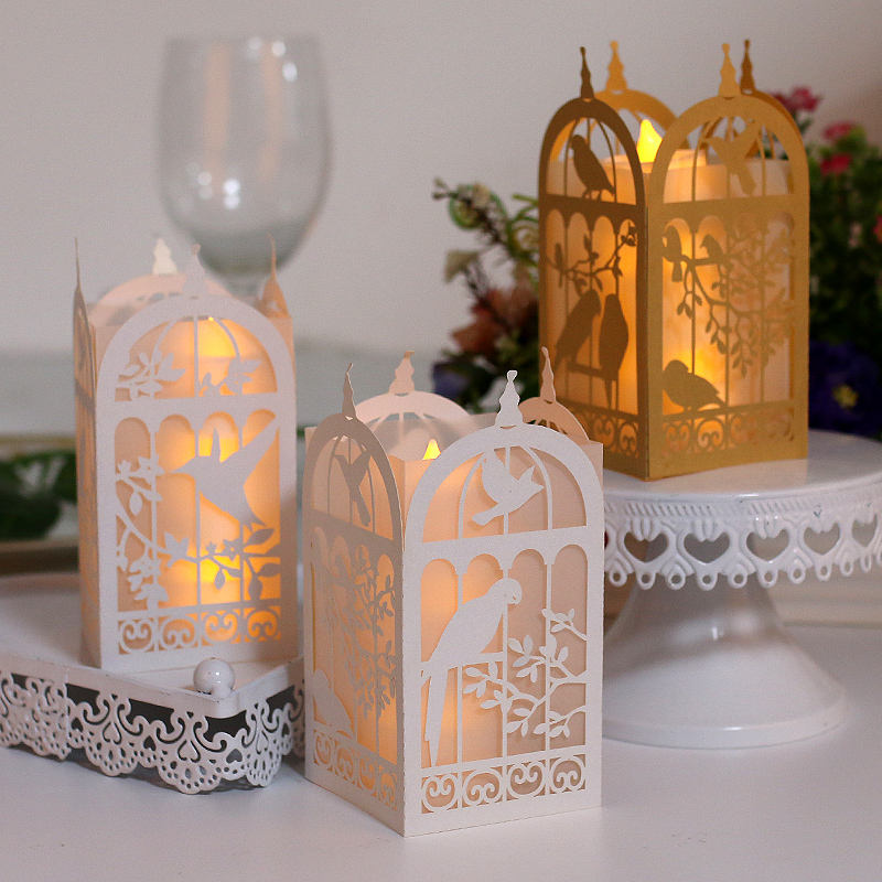 High quality laser cut animal christmas paper lantern in paper crafts