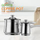 Different capacity stainless steel warmer coffee boiling pot milk Pot