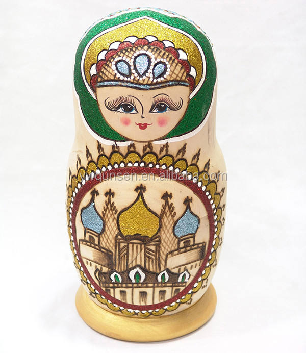 6 layer nesting doll russian wooden matryoshka