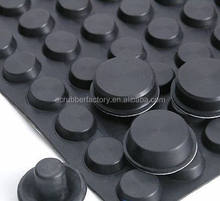 Silicone  Rubber Dots For Cars Black Rubber Leg Tips For Chairs