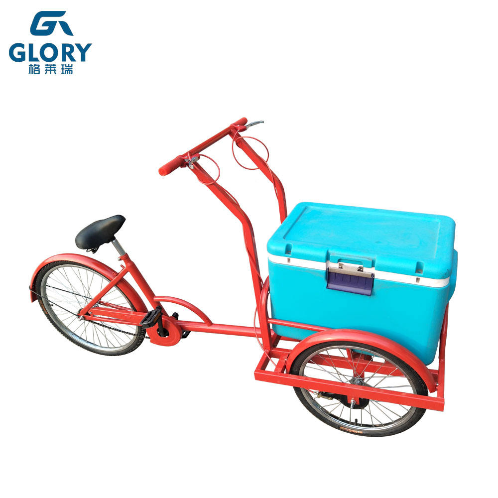 Manufacture design solar ice cream freezer cart portable tricycle food cart
