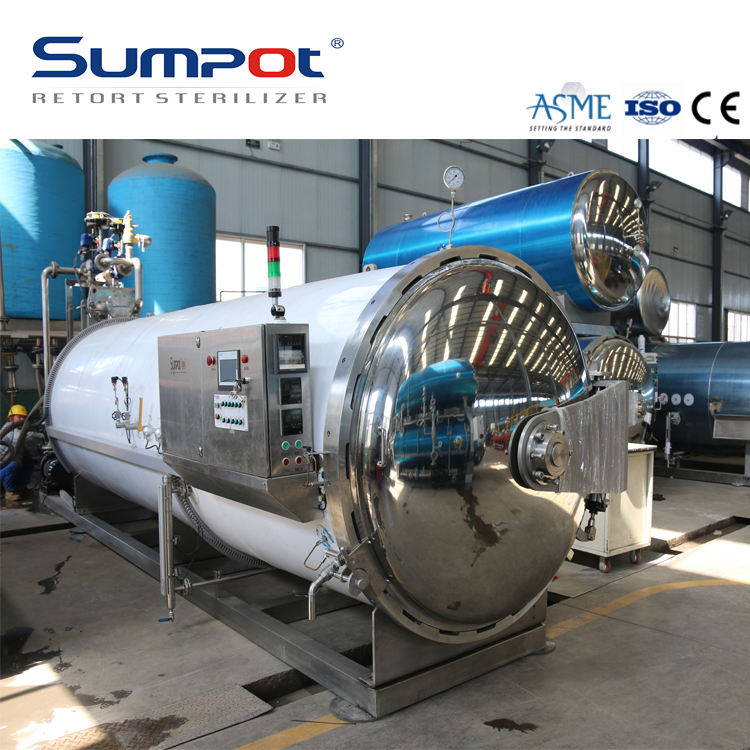 Automatic water spray autoclave retort sterilizer for canned palmito