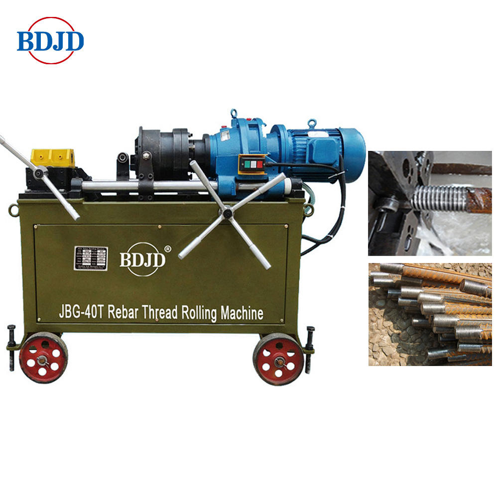 Rebar thread rolling machine with chaser Direct thread rolling machine