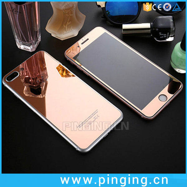 Anti-Broken Front And Back Plating Glass For Cell Phone Color Screen For iPhone 7 Plus Tempered Glass Screen Guard