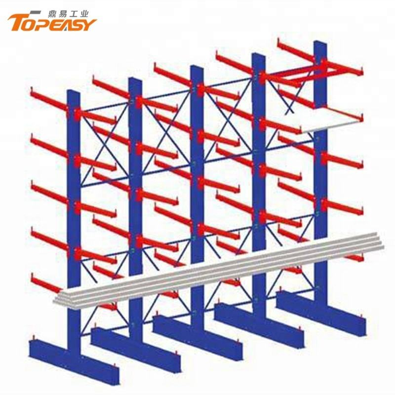 high quality metal bars cantilever rack for storage steel plate