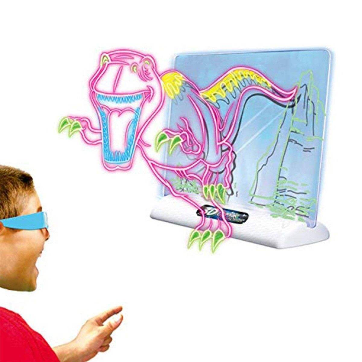 Battery Operated Educational Glow Pad 3D Magic LED Toys Light Drawing Board Erasable Doodle Sketch Tablet Kids New