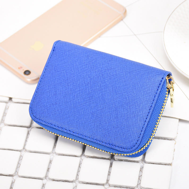High Quality Colorful Genuine Saffiano Leather Holiday Card Holder Card Case