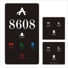 Touch screen Hotel Electronic Doorplate Door Number with Do Not Disturb/hotel room number