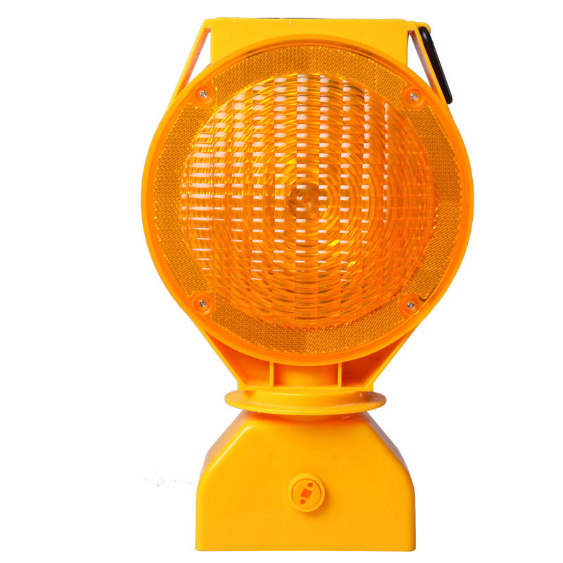 Road safety plastic traffic warning solar blinker flashing amber light