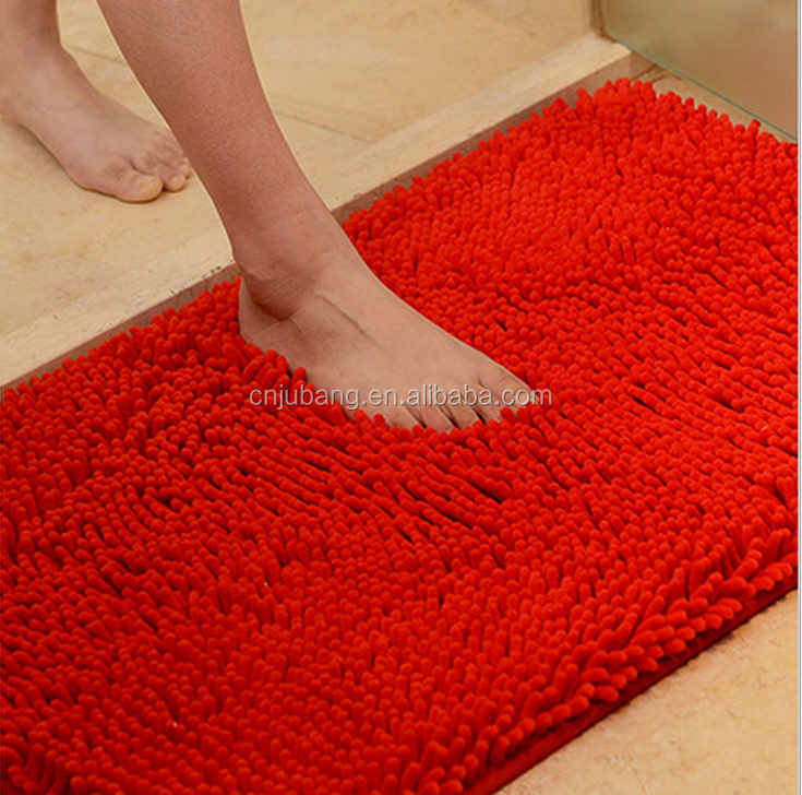 Washable microfiber waterproof bath mat / non-slip bathroom floor mat / Microfiber Bath Mat Bathroom Mats