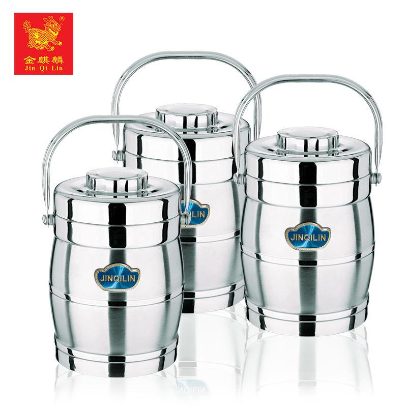 プレミアム品質の異なるサイズティフィンステンレス鋼真空食品容器から中国