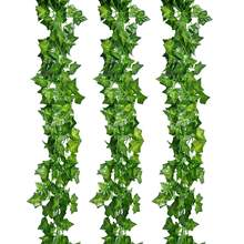 Artificial Greenery Ivy Vine Leaves Garland for Wedding Party Garden Wall