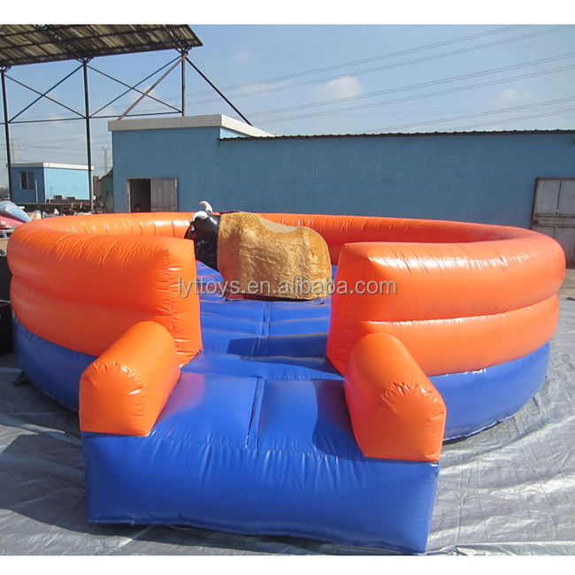 Amusement park sport game inflatable mechanical rodeo bull riding for sale