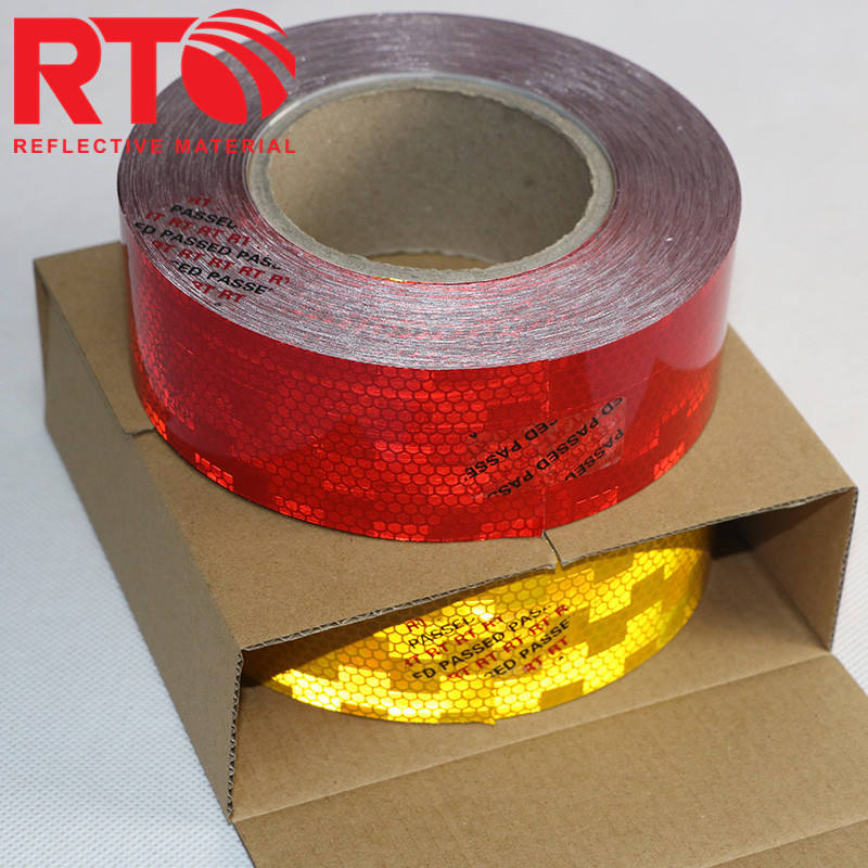 March best selling Custom printed checkered reflective tape for road safety