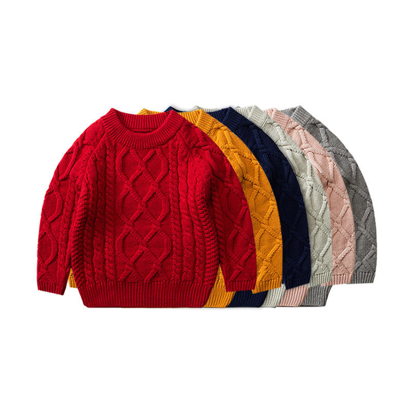 fashion knitted unisex winter kids sweater children wholesale