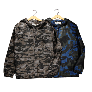 2017 New Design Boy Camouflage Jacket Children Clothing Big Boy Hooded Jacket Coat Age 8 9 10 11 12 Years