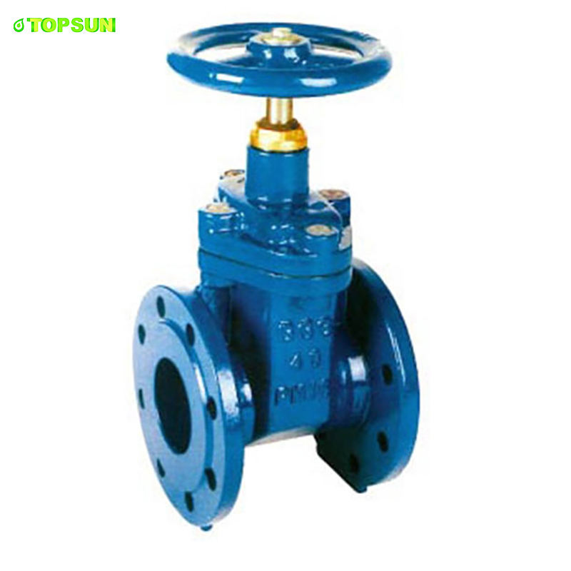 High Quality Dn125 DIN/EN WATER treatment system cast iron sewer gate valve pressure rating