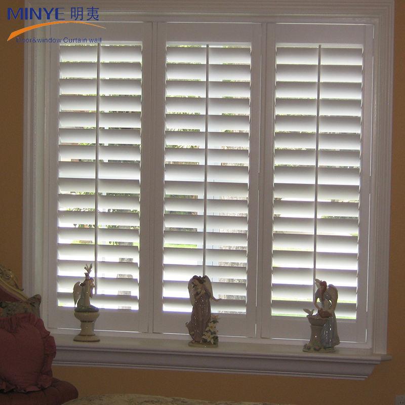 Decorative front double door/simple indian window designs patio aluminum shutter window