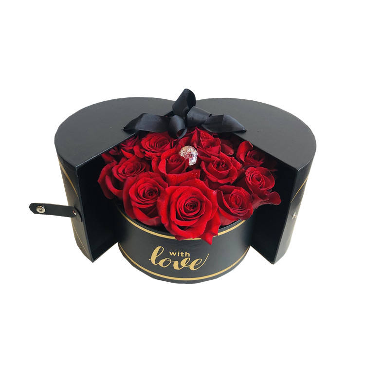 New Style High Quality Round Valentine's Day Flower Packing Gift Boxes