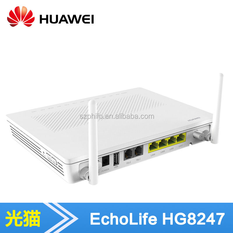 4GE Wifi Echolife HG8247H هواوي gpon ont <span class=keywords><strong>الكيبل</strong></span> <span class=keywords><strong>التلفزيوني</strong></span>