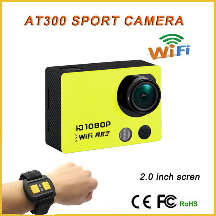 Go pro helm tahan air kamera digital wifi sj-6000 at300 aksi cam dengan remote control