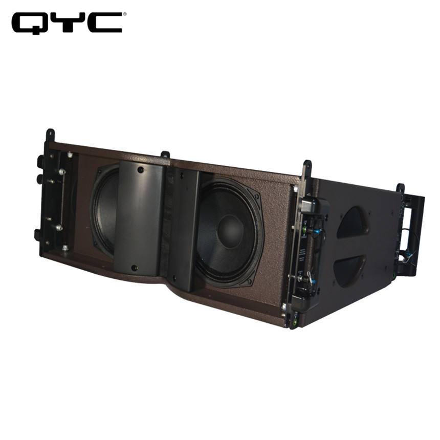 QYC Dual 8 inch Stage audio sound equipment line array horn