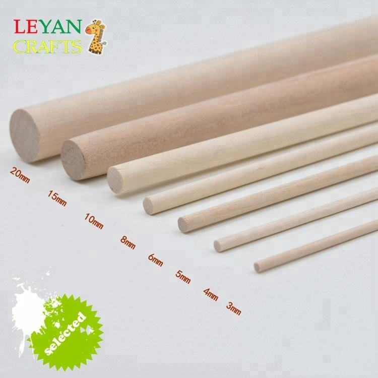 Lollipop tongkat-kayu Alami putaran tongkat 5 inches