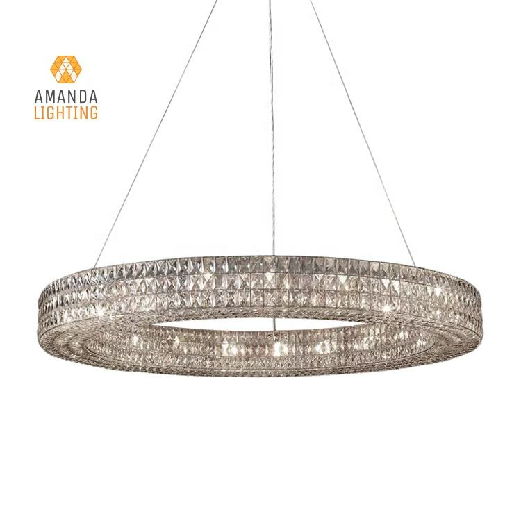 Vintage Luxury Circle Crystal Spiridon Ring Chandelier For Bedroom Living room Dining Room Hanging Pendant Lights