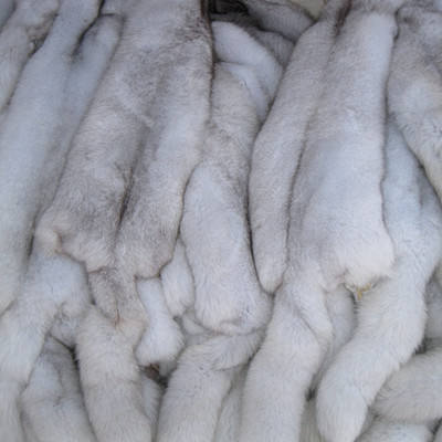 Hot selling good quality genuine blue fox fur pelt/blanket