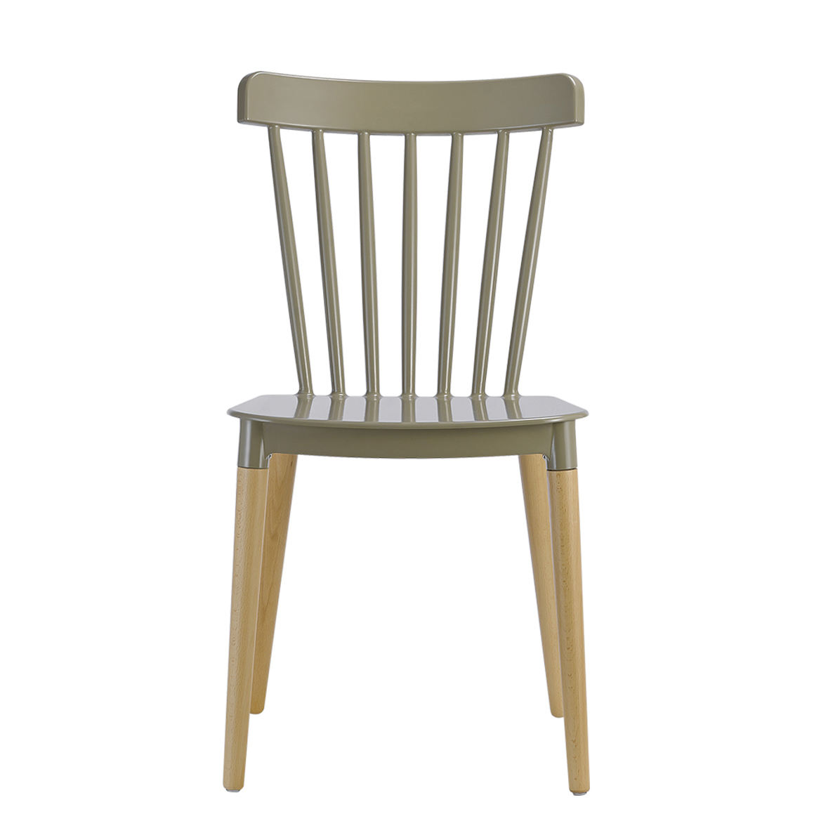 High Quality Comfortable Plastic Chairs For Sale / Modern PP Restaurant Dining Chair With Solid Beech Wood Legs